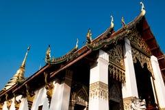 Stupa et Wat Nan d'or, Thaïlande Images stock