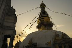 Stupa in Evening Light Royalty Free Stock Photo