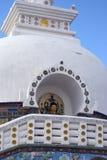 stupa för shanti för india ladakhleh Arkivfoto