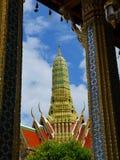 Stupa. A famous stupa in Wat Phra Kaew Thailand stock photos
