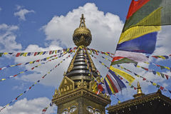 Stupa flags Royalty Free Stock Photo