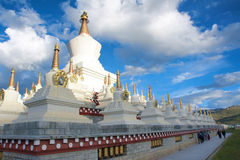 Stupa Forest Royalty Free Stock Photography