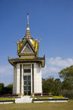 stupa för ek för cambodia mittchoeung genocidal Royaltyfria Bilder