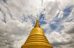 Stupa of the Golden Mountain Temple Stock Images