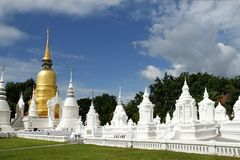 Stupa. Golden stupa in buddhist temple Stock Images