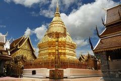 Stupa. Golden stupa in buddhist temple Stock Image