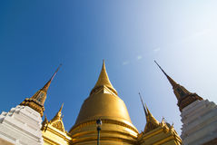 Stupa at Grand Palace. Grand palace is one of Thailand landmarks. It is located at Bangkok. Grand palace was previous King's palace before moved to Dusit. It is Royalty Free Stock Images
