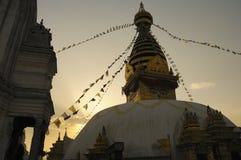 Stupa in het Licht van de Avond Royalty-vrije Stock Foto