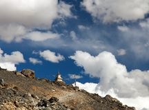 Stupa on hill between cloud Royalty Free Stock Photography