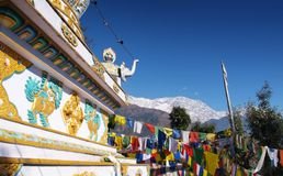 Stupa and Himalaya  Royalty Free Stock Image