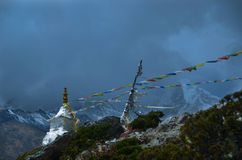 Stupa in the Himalayas Stock Images