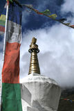 Stupa in the Himalayas Stock Photo