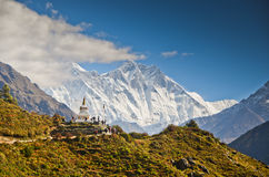 Stupa in the Himalayas Royalty Free Stock Photos