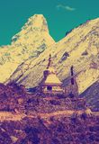 Stupa  in Himalayas, Nepal Royalty Free Stock Photography