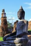 Stupa i Buddha statuy Obraz Royalty Free