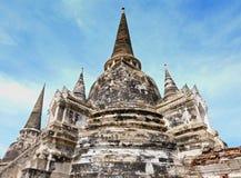 Stupa i den forntida staden, Thailand Arkivbild