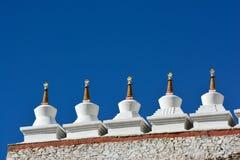 Stupa i den Shey slotten, Leh, Ladakh Arkivfoton