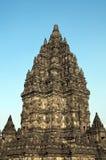 Stupa i det Prambanan tempelet. Java Indonesien. Arkivfoton