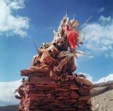 Stupa i Tsomoriri, Ladakh Arkivbilder