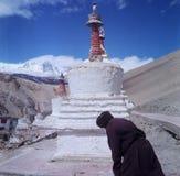 Stupa i Tsomoriri, Ladakh Royaltyfria Bilder