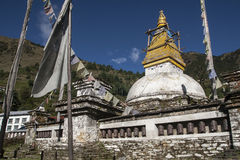 Stupa. In Junbesi Royalty Free Stock Photography