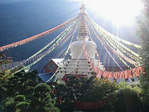 Stupa in Karma Ling, Arvillard, Francia Fotografia Stock