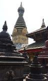 Stupa in kathamandu. Temple en Nepal Royalty Free Stock Photography