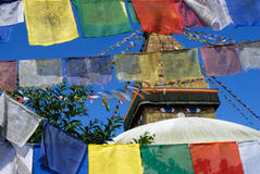 stupa kathmandu boudhanath Стоковые Фотографии RF