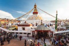 stupa kathmandu boudhanath Стоковое Изображение