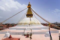 Stupa Katmandu - Boudhanath Royalty-vrije Stock Fotografie