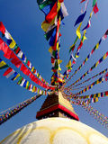 Stupa Katmandu Nepal de Buda Imágenes de archivo libres de regalías