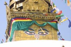 Stupa - Khumbu, Népal images libres de droits
