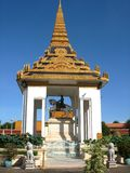 Stupa of King Norodum 1st King of Cambodia. A stupa is a Buddhist architectural and Jain found in the Indian subcontinent, where it originates, but also in the Stock Photo