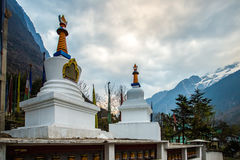 The stupa at Lachung Village, North Sikkim, India Stock Photography