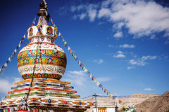 Stupa in Leh city and blue sky Leh Ladakh ,India Stock Photos