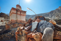 Stupa and Mani Stones in Nepal Stock Photography