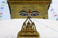 Stupa met de Ogen van Boedha Royalty-vrije Stock Afbeeldingen