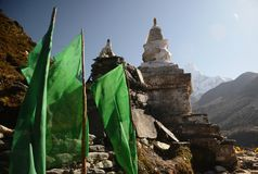 Stupa and mountains in the background Stock Photos