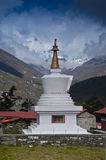 Stupa and mountains in the background Stock Image