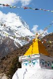 Stupa in mountains Stock Photo