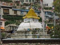 Stupa in Namche-Bazaar, Everest-Gebied Stock Fotografie