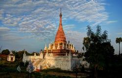 Stupa near Maha Aungmye Bonzan temple , Ava. Stupa near Maha Aungmye Bonzan temple at sunset, Ava, Myanmar Royalty Free Stock Photography