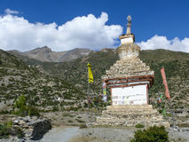 Stupa near Ngawal, Nepal Royalty Free Stock Photos