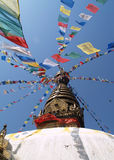 Stupa nepalés Imagen de archivo libre de regalías