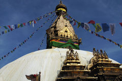 Stupa in Nepal Royalty-vrije Stock Afbeeldingen
