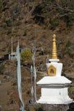 Stupa in Nepal. Traditional golden stupa in Khumbu Valley, Nepal Stock Photos