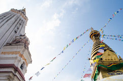 Stupa in the  Nepal Stock Image