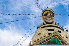Stupa in the  Nepal Stock Photo