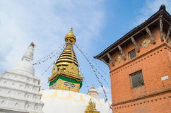 Stupa in the  Nepal Royalty Free Stock Photo