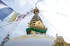 Stupa in the  Nepal Royalty Free Stock Photography